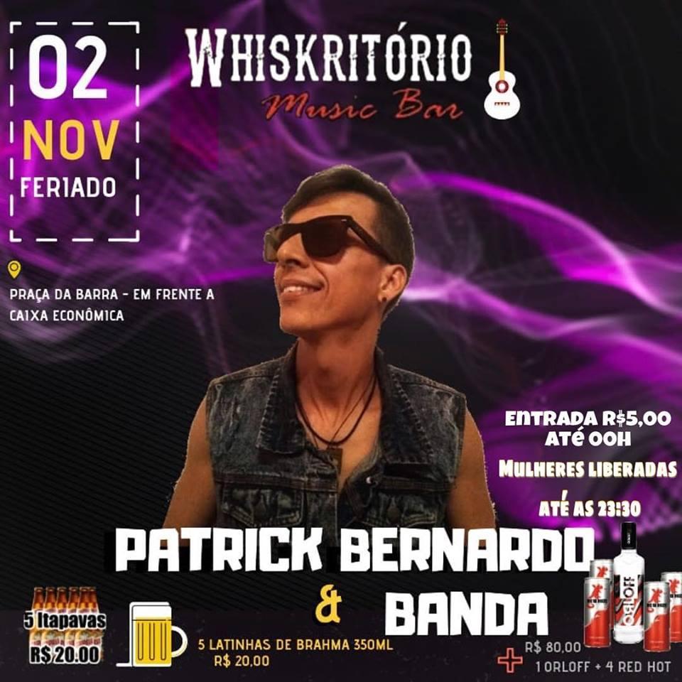 Patrick Bernardo e Banda no Whiskritório Music Bar