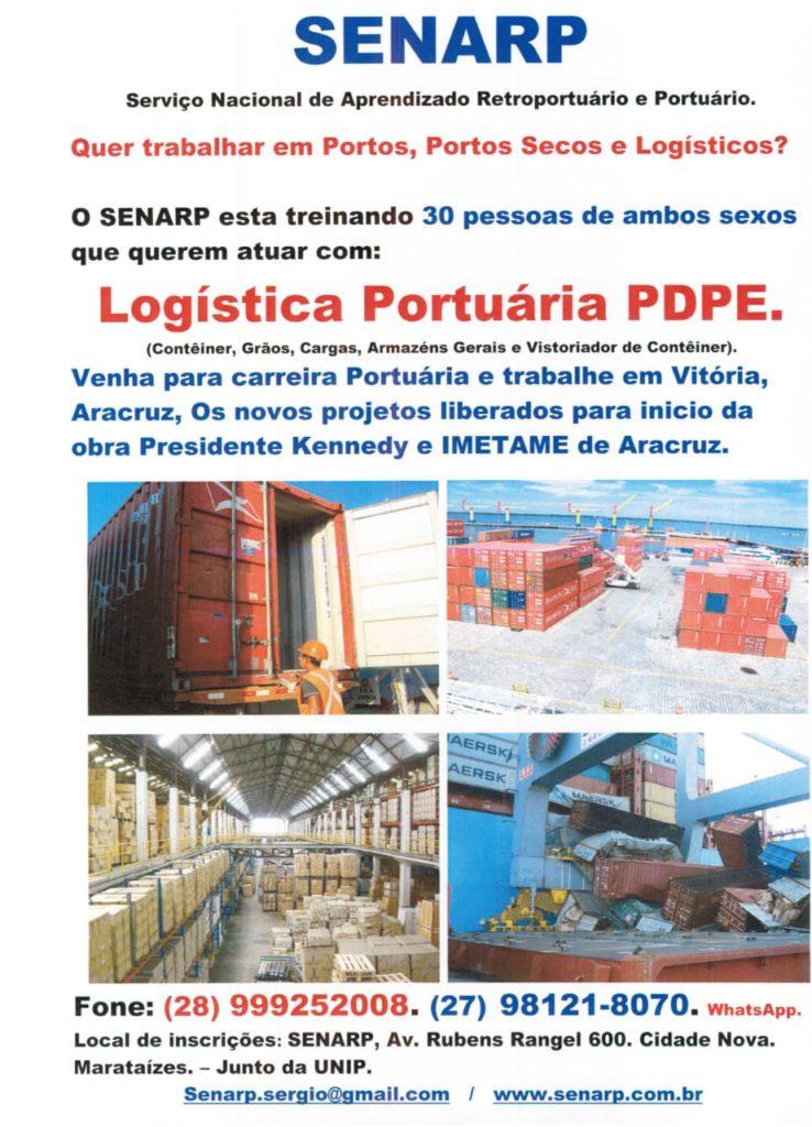 oportunidade está batendo na porta para os que planejam aproveitar a chegada do Porto Central, em Presidente Kennedy,e se profissionalizar para trabalho portuário.