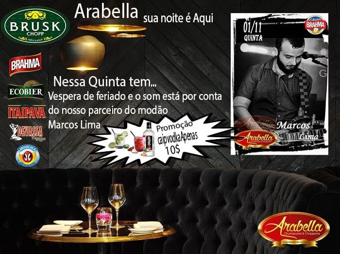 Música ao vivo no Arabella Churrascaria e Chopperia