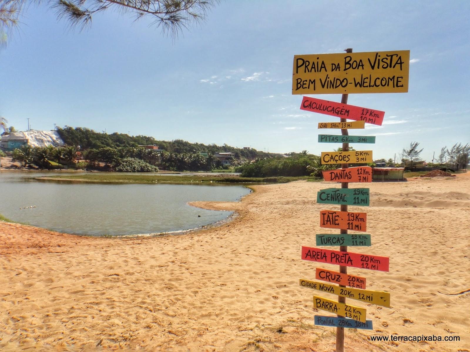 Lagoa de Boa Vista do Sul, em Marataízes