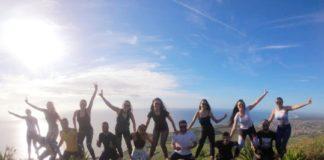 """Grupo de Trilheiros """"Pé na Trilha"""" no alto do Monte Aguá em Piúma"""