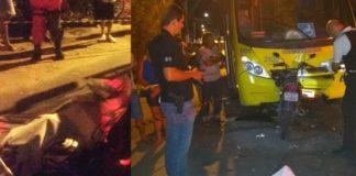 Homem morre em acidente entre moto e ônibus em Campo Acima