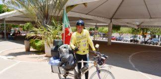Gaúcho Peregrino chega de bicicleta em Presidente Kennedy