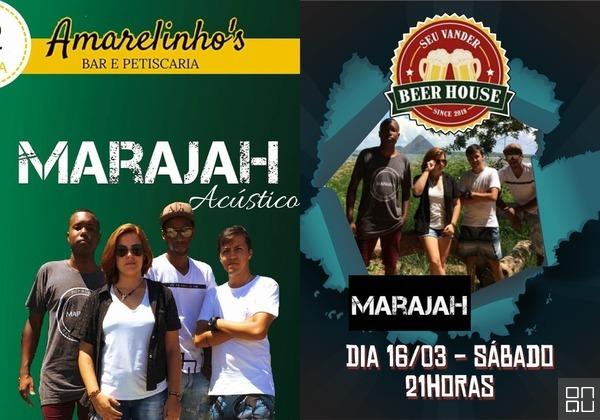 Nesta sexta (15), em Anchieta, Banda MARAJAH se apresenta com Amanda, sua nova vocalista
