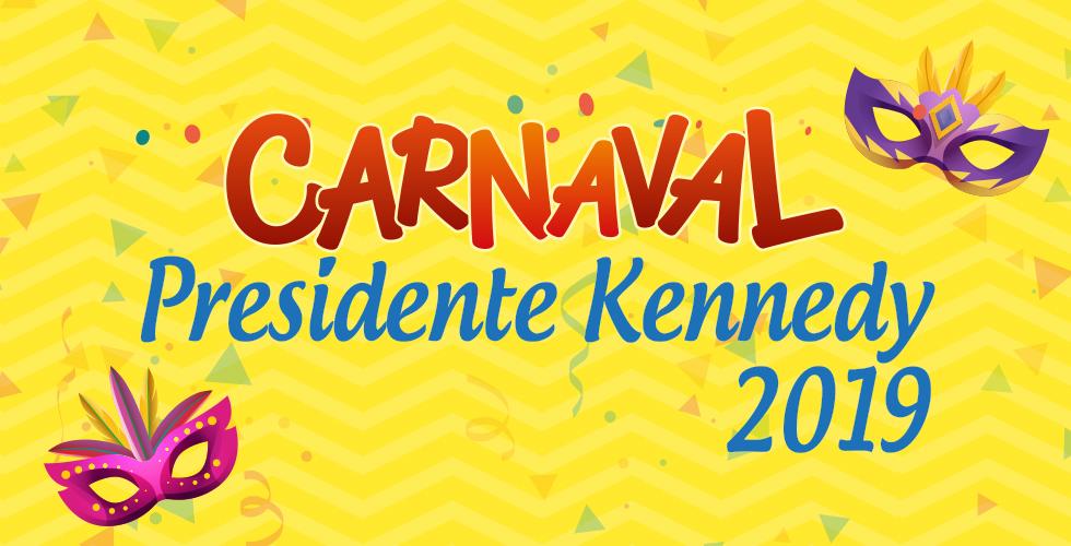 Programação do Carnaval de Presidente Kennedy 2019