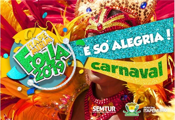 Itapemirim divulga programação do Carnaval 2019