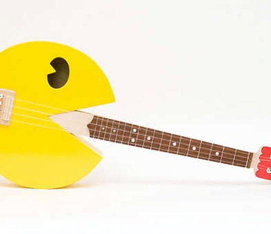 guitarra inspirada no consagrado game do Pac-Man