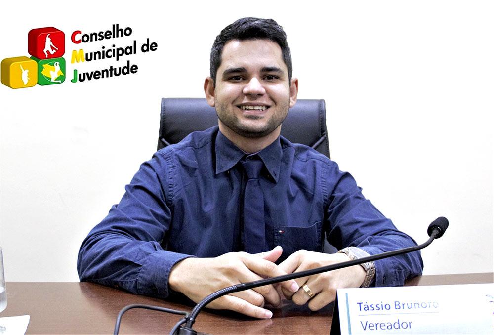Tássio Brunoro na luta pela criação do Conselho Municipal da Juventude