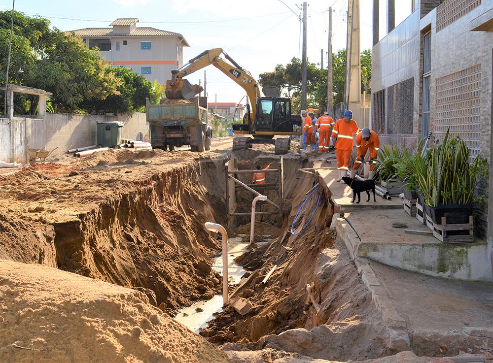 Obras de saneamento básico serão concluídas no mês de agosto em Marobá, Presidente Kennedy