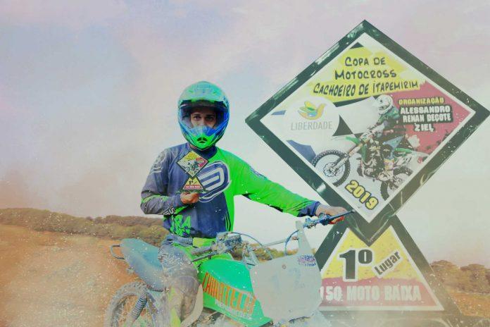 Chechel passeia na Copa Cachoeiro de Motocross com sua CG e traz mais um título para Itapemirim