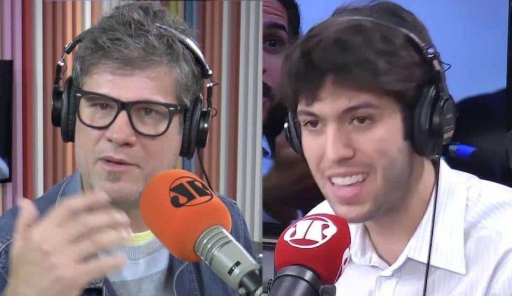 Edgard Piccoli e Caio Coppolla travam discussão ao vivo na Jovem Pan no caso Bolsonaro