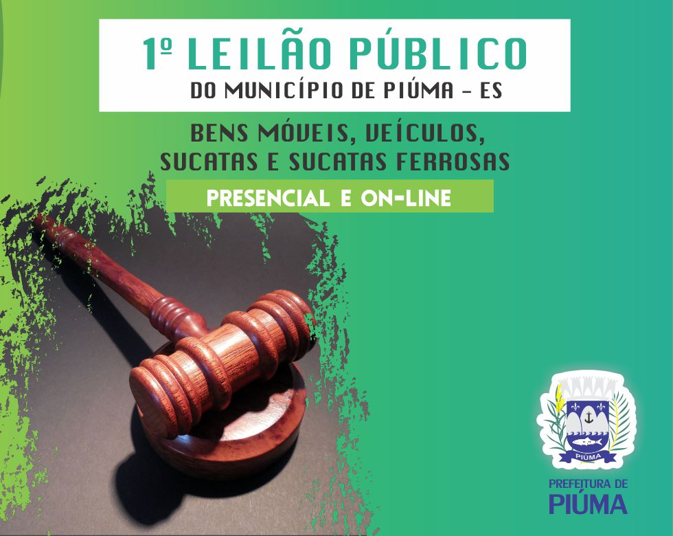 Prefeitura de Piúma vai realizar primeiro leilão público
